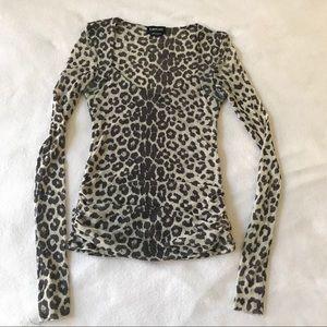 Bebe Animal Print Super Stretchy & Fine Sexy Top